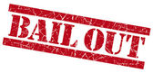 Bail out grunge red stamp — Stock Photo