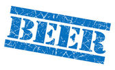 Beer grunge blue stamp — Stock Photo