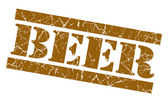 Beer grunge brown stamp — Stock Photo