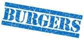 Burgers grunge blue stamp — Stock Photo