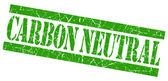 Carbon neutral grunge green stamp — Stock Photo