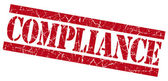 Compliance grunge red stamp — Stock Photo