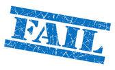 Fail grunge blue stamp — Stock Photo