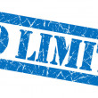 No limits grunge blue stamp — Stock Photo