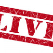 Live grunge red stamp — Stock Photo