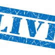 Live grunge blue stamp — Stock Photo
