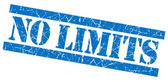 No limits grunge blue stamp — Stock Photo
