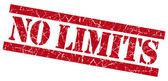 No limits grunge red stamp — Stock Photo