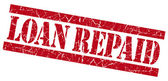 Loan repaid grunge red stamp — Stock Photo