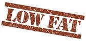Low fat grunge brown stamp — Stock Photo