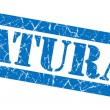 Natural grunge blue stamp — Stock Photo