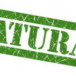 Natural grunge green stamp — Stock Photo