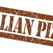 Italian Pizza grunge brown stamp — Stock Photo