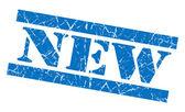 New grunge blue stamp — Stock Photo