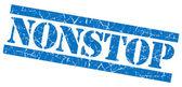 Nonstop grunge blue stamp — Stock Photo