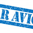 Stock Photo: Par Avion grunge blue stamp