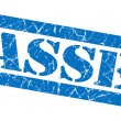 Passed grunge blue stamp — Stock Photo