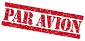 Par Avion grunge red stamp — Стоковое фото
