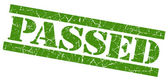 Passed grunge green stamp — Stock Photo