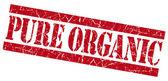 Pure Organic grunge red stamp — Stock Photo