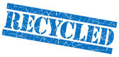 Timbro grunge riciclato blu — Foto Stock