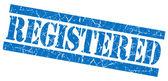 Registered grunge blue stamp — Stock Photo