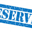 Reserved blue grunge stamp — Stock Photo