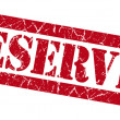 Reserved red grunge stamp — Stock Photo