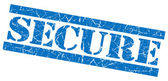 Secure blue grunge stamp — Stock Photo