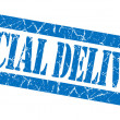 Stock Photo: Special delivery blue grunge stamp