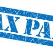 Tax paid blue grunge stamp — Stock Photo #36083531