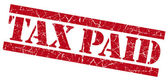 Tax paid red grunge stamp — Stock Photo