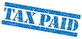 Tax paid blue grunge stamp — Stock Photo