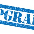 Upgrade blue grunge stamp — Stock Photo