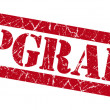 Stock Photo: Upgrade red grunge stamp