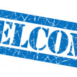 Welcome blue grunge stamp — Stock Photo