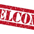 Welcome red grunge stamp — Stock Photo