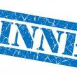 Winner blue grunge stamp — Stock Photo #36286385