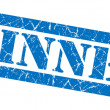 Winner blue grunge stamp — Stock Photo