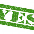 Yes green grunge stamp — Stock Photo