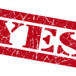 Yes red grunge stamp — Stock Photo