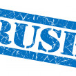 Rush blue grunge stamp — Stock Photo