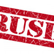 Rush red grunge stamp — Stock Photo