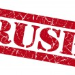 Rush red grunge stamp — Stock Photo #36286939