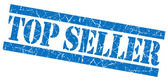 Top seller blue grunge stamp — Stock Photo