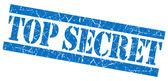 Top secret mavi grunge damgası — Stok fotoğraf