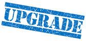 Upgrade blue grunge stamp — Stock Photo