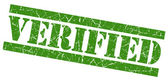 Verified green grunge stamp — Stock Photo