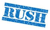 拉什蓝色 grunge 邮票 — 图库照片