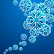 Blue snow flakes poster — Stock Photo